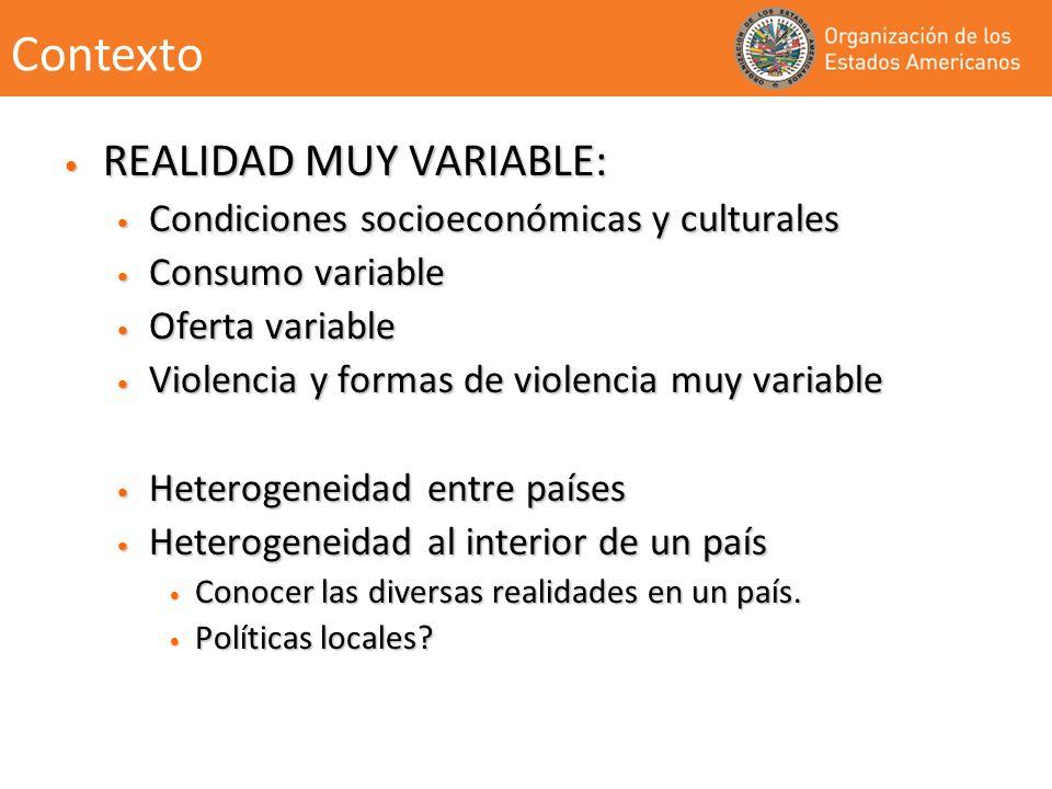 REALIDAD MUY VARIABLE: REALIDAD MUY VARIABLE: Condiciones socioeconómicas y culturales Condiciones socioeconómicas y culturales Consumo variable Consu