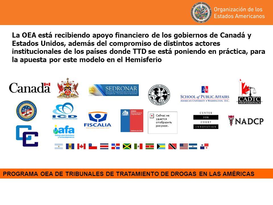PROGRAMA OEA DE TRIBUNALES DE TRATAMIENTO DE DROGAS EN LAS AMÉRICAS La OEA está recibiendo apoyo financiero de los gobiernos de Canadá y Estados Unido