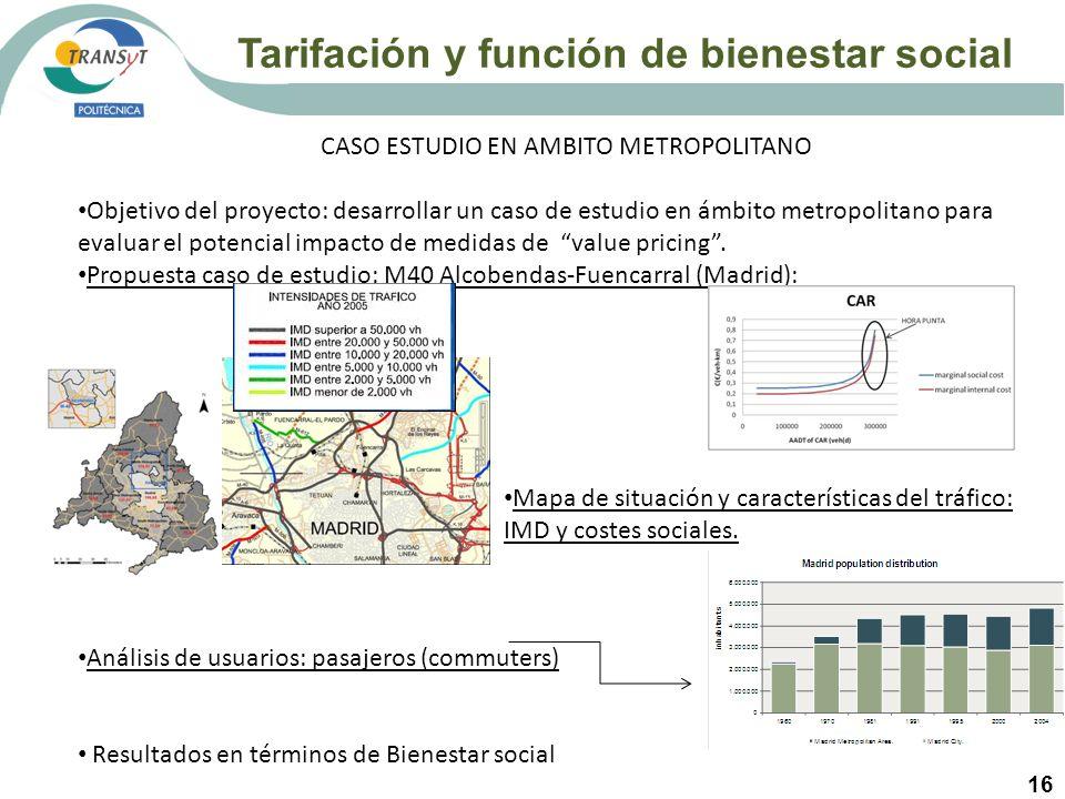 16 CASO ESTUDIO EN AMBITO METROPOLITANO Objetivo del proyecto: desarrollar un caso de estudio en ámbito metropolitano para evaluar el potencial impact
