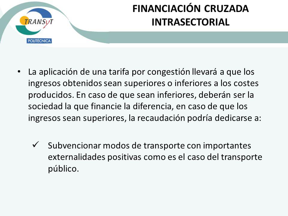 La aplicación de una tarifa por congestión llevará a que los ingresos obtenidos sean superiores o inferiores a los costes producidos. En caso de que s
