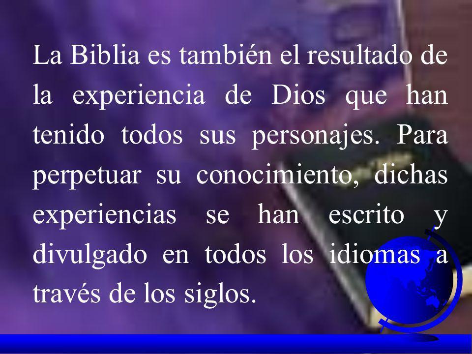 La prueba más grande de su presencia es Jesús, Palabra de Dios hecha carne. Por esta razón el centro de la Biblia es Cristo y toda la Sagrada Escritur