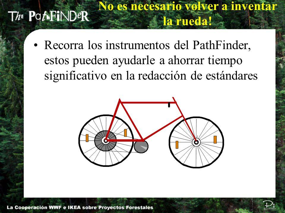 No es necesario volver a inventar la rueda! Recorra los instrumentos del PathFinder, estos pueden ayudarle a ahorrar tiempo significativo en la redacc