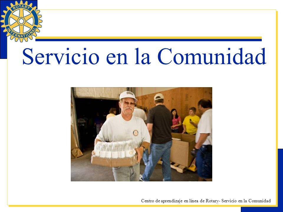 Centro de aprendizaje en línea de Rotary- Servicio en la Comunidad Servicio en la Comunidad
