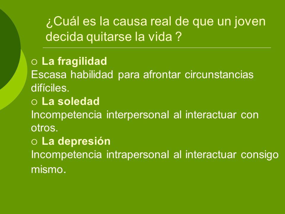 ESTADO LARVADO: PREPARACIÓN Pesimismo Ideación Plan suicida previo EJECUCIÓN Evento detonante Preparación Intento(s) Consumación