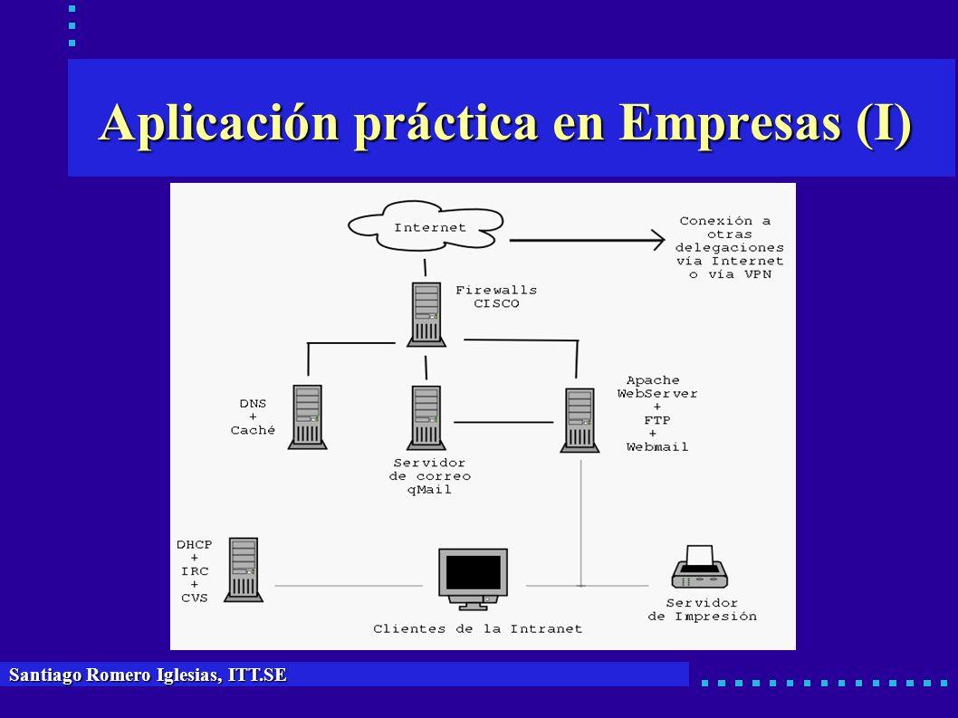 Aplicación práctica en Empresas (I) Santiago Romero Iglesias, ITT.SE