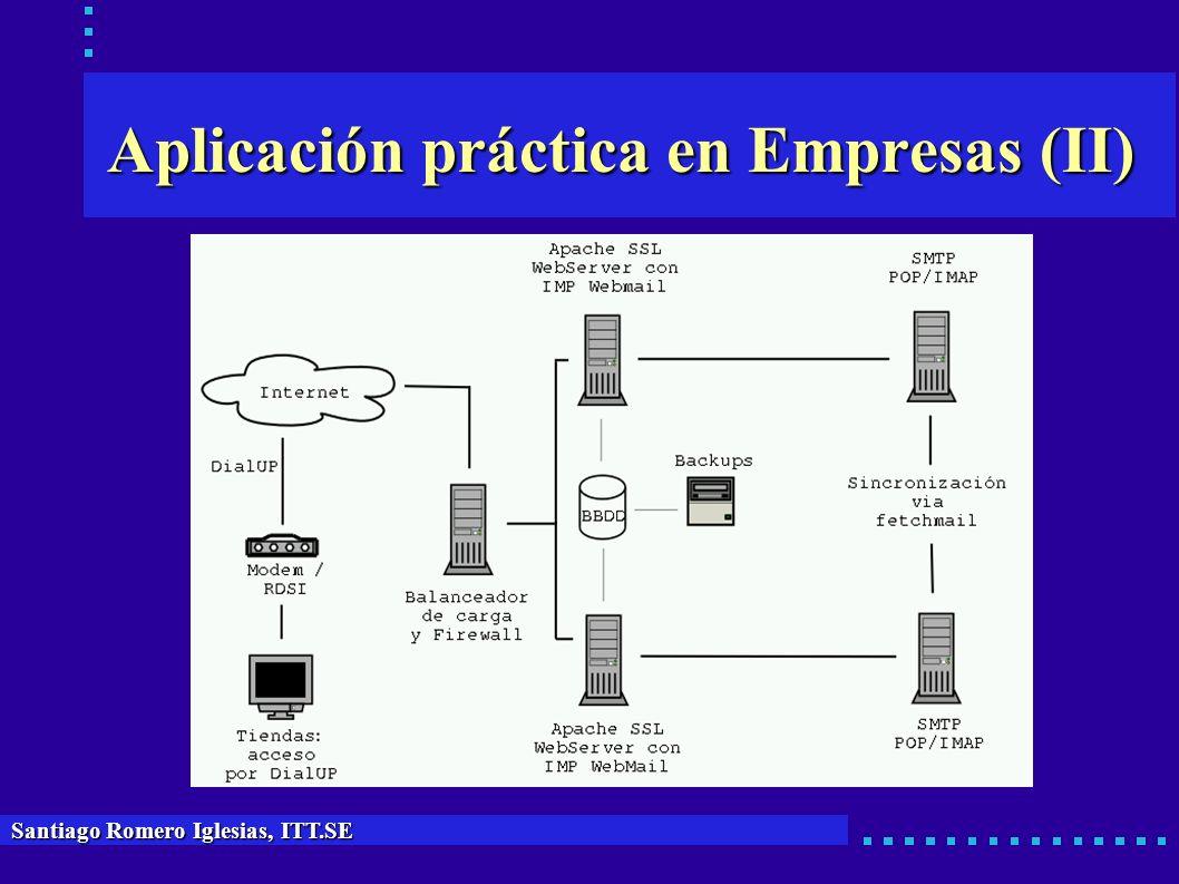 Aplicación práctica en Empresas (II) Santiago Romero Iglesias, ITT.SE