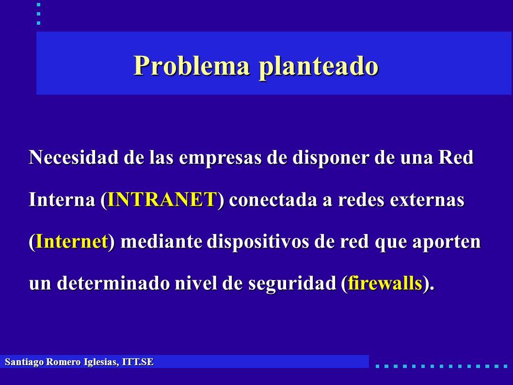 Problema planteado Santiago Romero Iglesias, ITT.SE Necesidad de las empresas de disponer de una Red Necesidad de las empresas de disponer de una Red