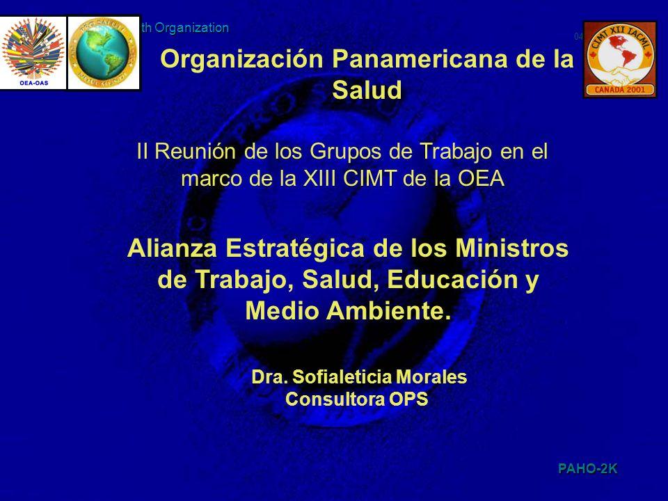 PAHO-2K 048TEN2K 1 Pan American Health Organization II Reunión de los Grupos de Trabajo en el marco de la XIII CIMT de la OEA Organización Panamerican