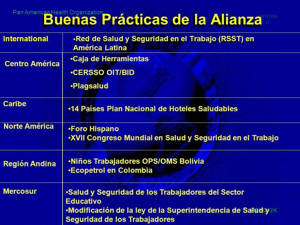 PAHO-2K 048TEN2K 17 Pan American Health Organization Buenas Prácticas de la Alianza Red de Salud y Seguridad en el Trabajo (RSST) en América Latina Ce
