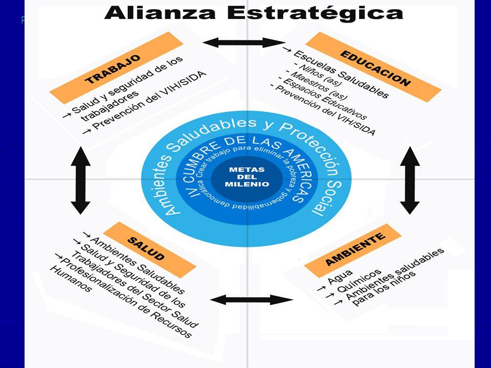 PAHO-2K 048TEN2K 10 Pan American Health Organization Sinergía con la Alianza Estratégica 123456789101112131415161718 Mortalidad infantil MortalidadMaterna.