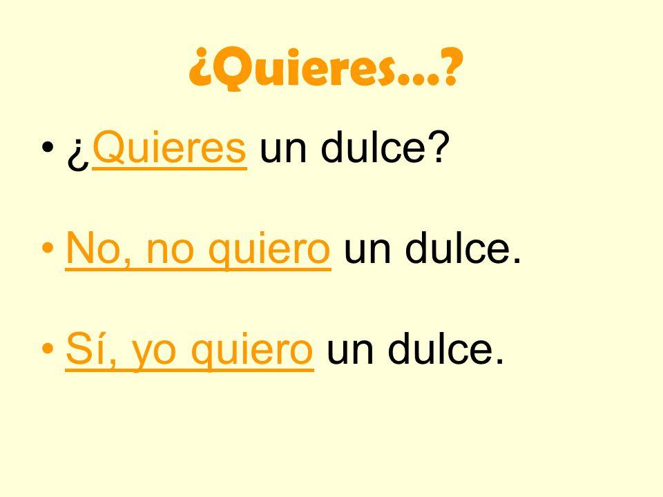 ¿Necesitas…? : Do you need…? No, no necesito…: No, I do not need… Sí, yo necesito…: Yes, I need