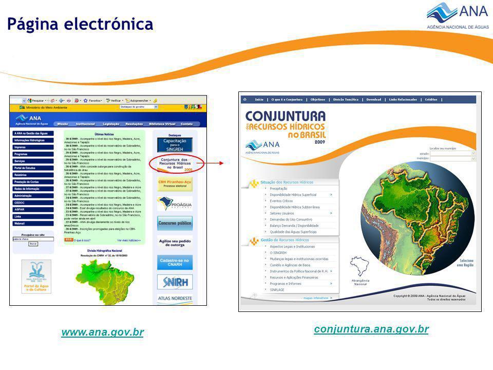 Temas Informaciones sobre cantidad y calidad de las aguas, usos y demandas Gestión de los Recursos Hidricos Síntesis