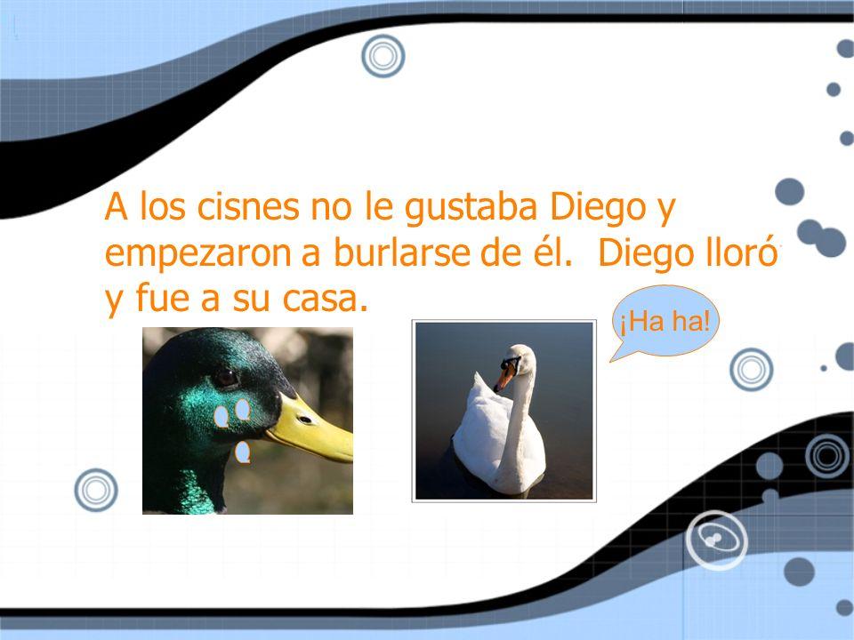 Julio se sintió muy mal y defendió Diego de los cisnes.