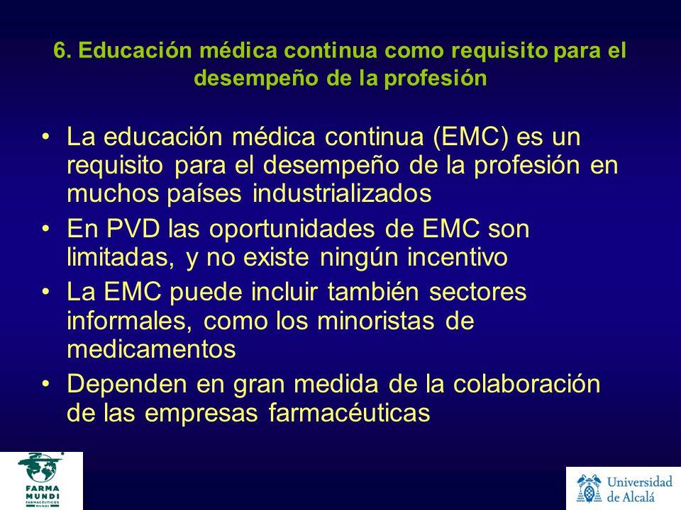6. Educación médica continua como requisito para el desempeño de la profesión La educación médica continua (EMC) es un requisito para el desempeño de