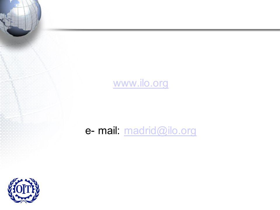www.ilo.org e- mail: madrid@ilo.orgmadrid@ilo.org