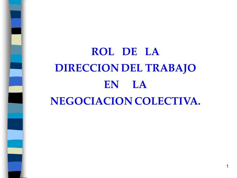 1 ROL DE LA DIRECCION DEL TRABAJO EN LA NEGOCIACION COLECTIVA.