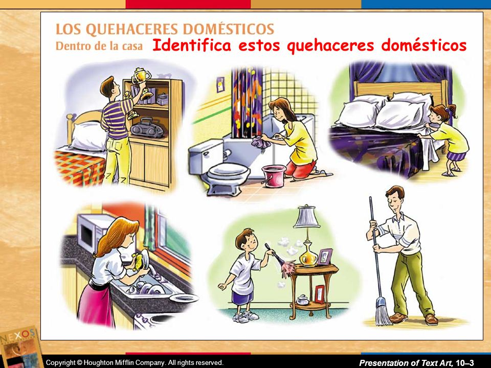 NADA- Sometimes we use nothing Buscar- To look FOR : Busco mi tarea.