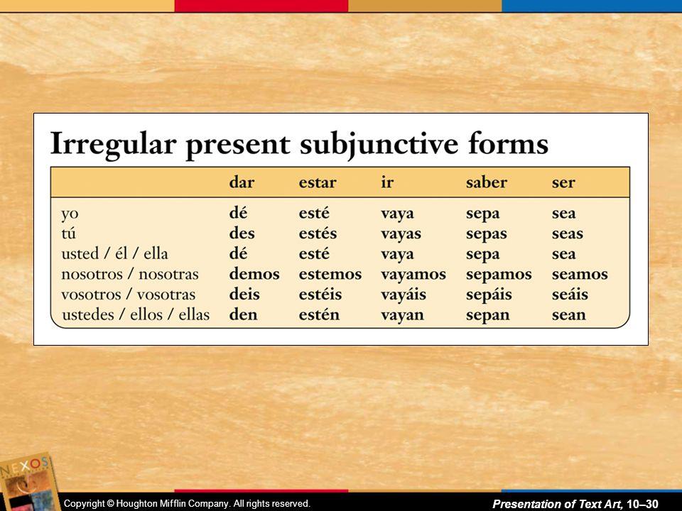 Copyright © Houghton Mifflin Company. All rights reserved. Presentation of Text Art, 10–29 ¿Conoces todo este vocabulario?