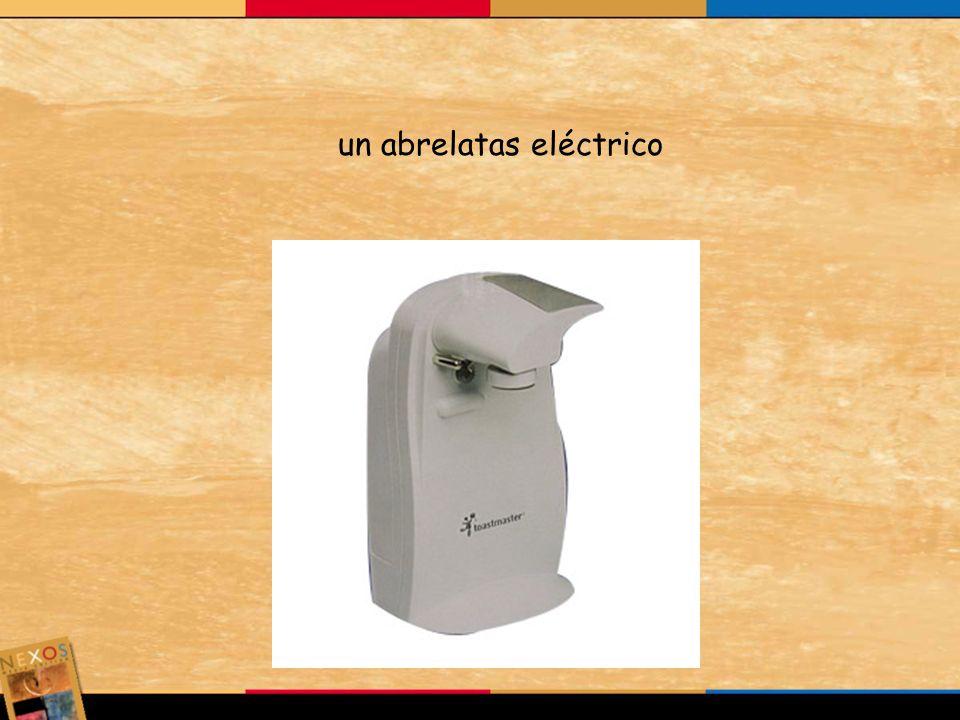 un abrelatas eléctrico