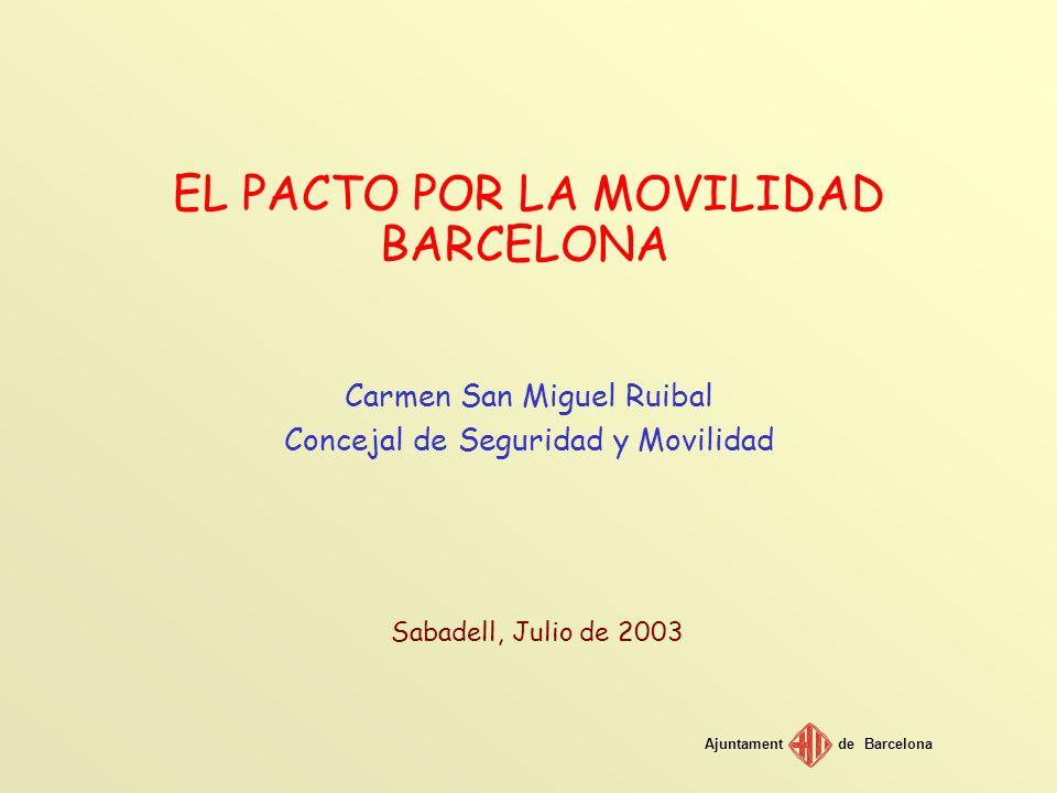 Ajuntamentde Barcelona Període 1999-2002 Al període 1998-2002 el número de viatges en transport públic ha augmentat en 85 milions, el que suposa un increment del 12%.