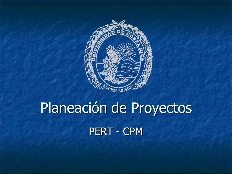 Planeación de Proyectos PERT - CPM