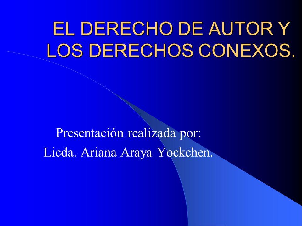 OBRAS PROTEGIDAS POR EL DERECHO DE AUTOR.ORIGINARIAS.