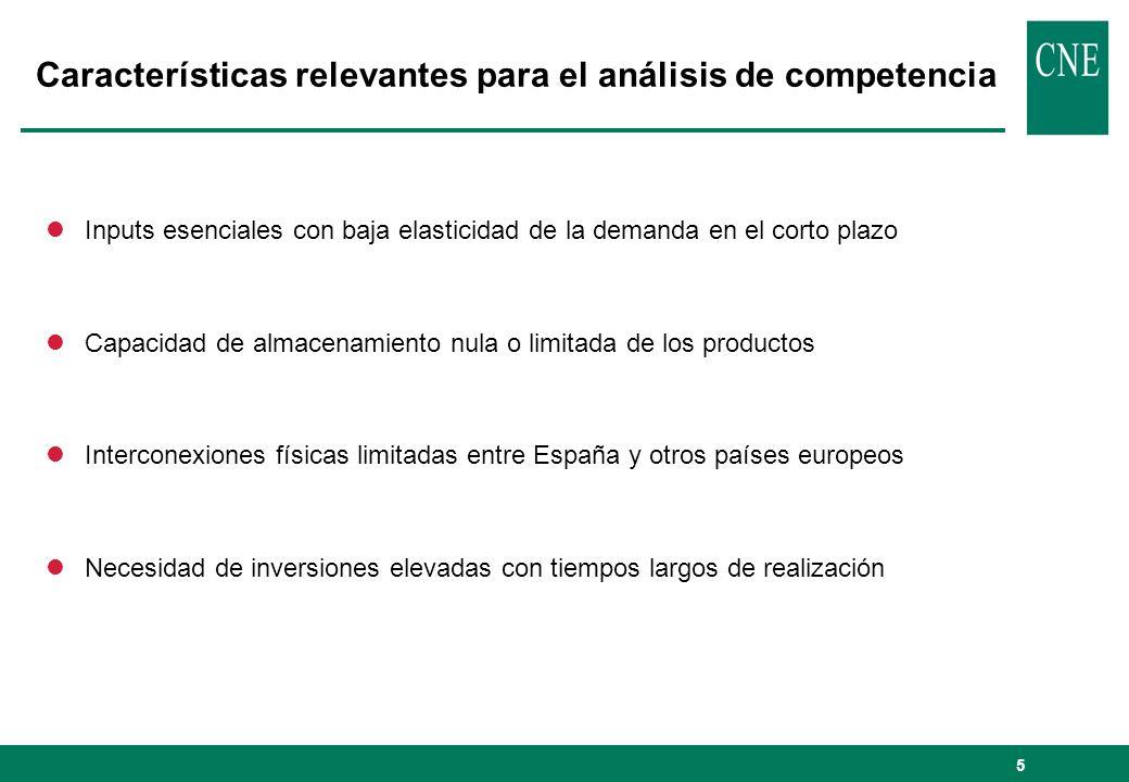 6 Esquema de funcionamiento de los sectores del gas y de la electricidad DISTRIBUCIÓN GAS COMERCIALIZACIÓN GAS COMERCIALIZACIÓN ELECTRICIDAD DISTRIBUCIÓN ELECTRICIDAD CONSUMIDORES Infraestructuras de gas Infraestructuras de electricidad Flujo comercial liberalizado Flujo comercial regulado MERCADO (POOL + BILATERALES) TRANSPORTE GAS OTRAS FUENTES DE ENERGÍA PRIMARIA GENERACIÓN ELECTRICIDAD IMPORT.
