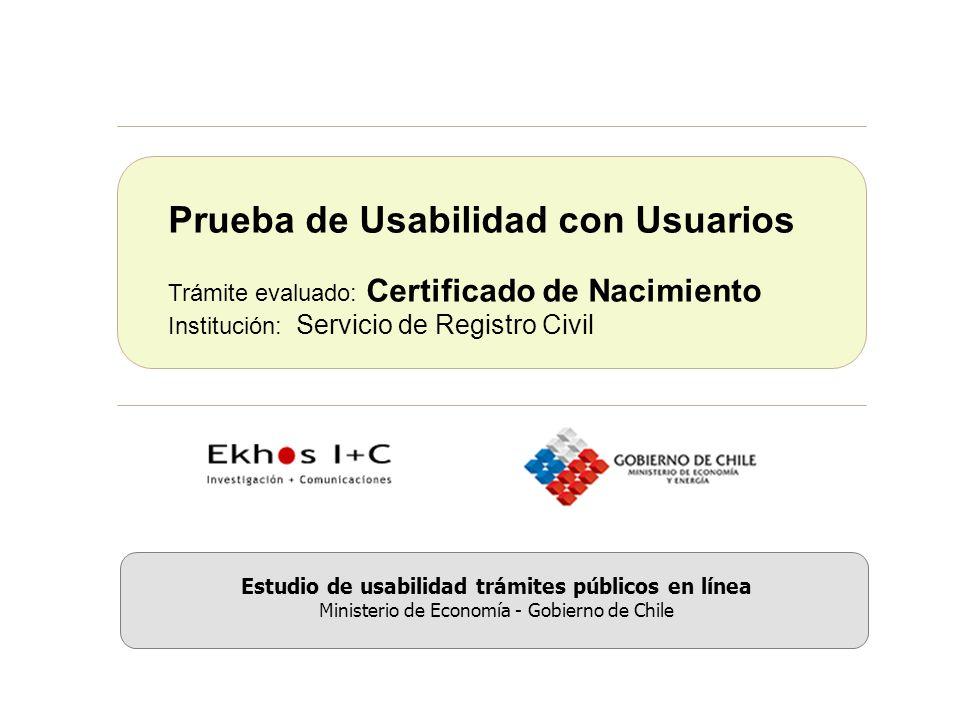 Estudio de usabilidad trámites públicos en línea.