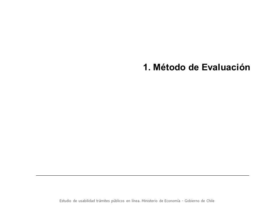 Estudio de usabilidad trámites públicos en línea.Ministerio de Economía - Gobierno de Chile 3.