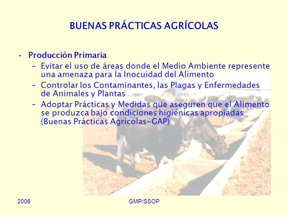 2006GMP/SSOP PROGRAMAS DE PRE-REQUISITO PARA LA APLICACIÓN DE HACCP Son las etapas o procedimientos necesarios al control de las condiciones que permiten la producción de Alimentos Inocuos.