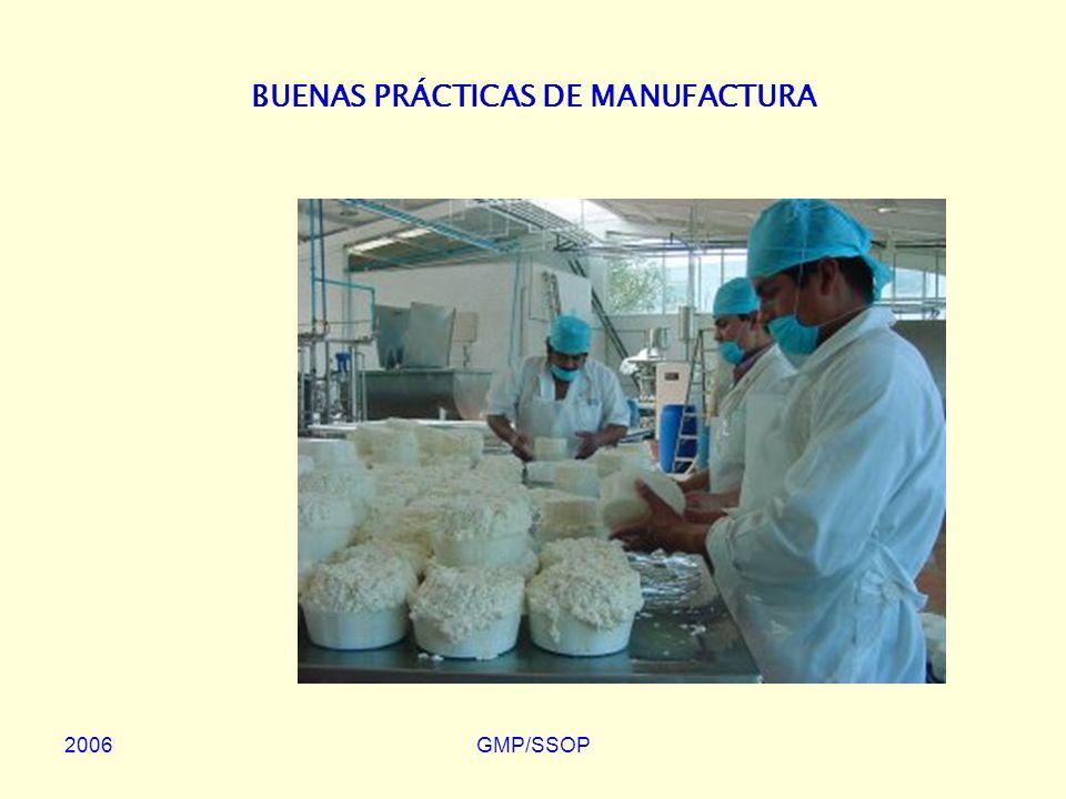 2006GMP/SSOP BUENAS PRÁCTICAS DE MANUFACTURA (Good Manufacturing Practices: GMP) Prácticas de Higiene recomendadas para la Producción de Alimentos con la finalidad de obtener Productos Inocuos.
