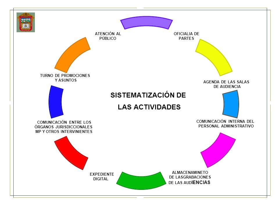 SISTEMATIZACIÓN DE LAS ACTIVIDADES
