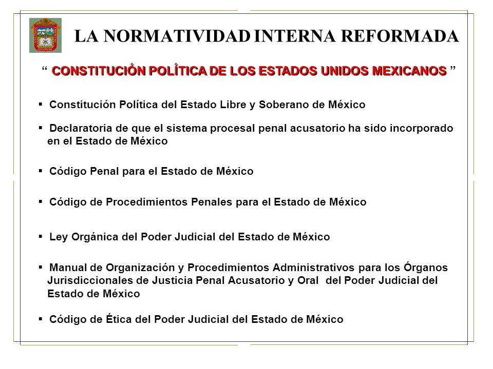 LA NORMATIVIDAD INTERNA REFORMADA CONSTITUCIÓN POLÍTICA DE LOS ESTADOS UNIDOS MEXICANOS CONSTITUCIÓN POLÍTICA DE LOS ESTADOS UNIDOS MEXICANOS Declarat