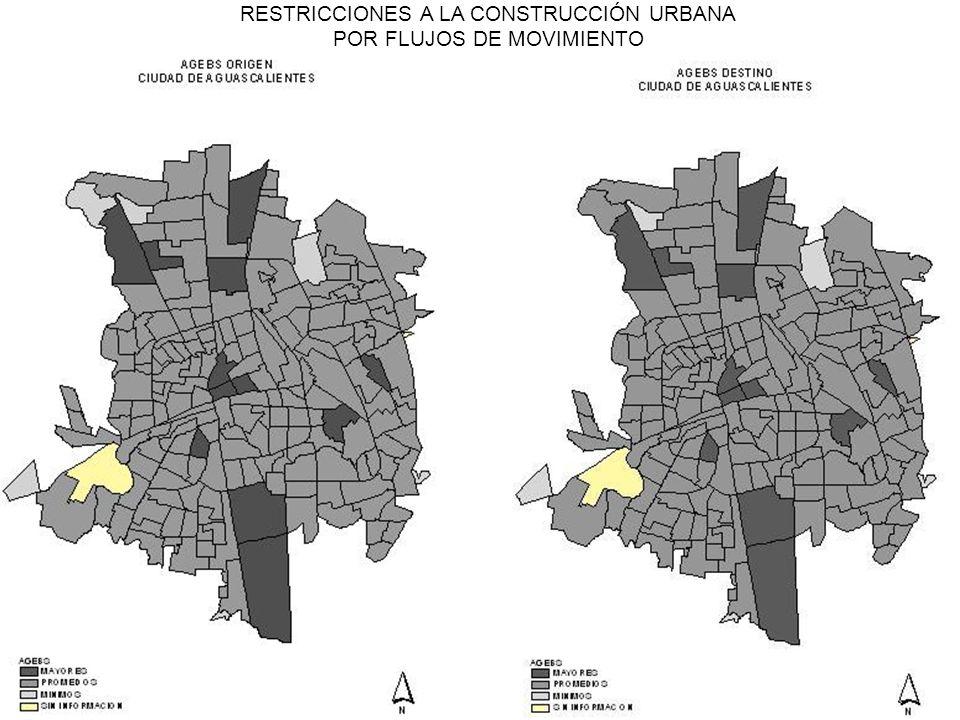 RESTRICCIONES A LA CONSTRUCCIÓN URBANA POR FLUJOS DE MOVIMIENTO