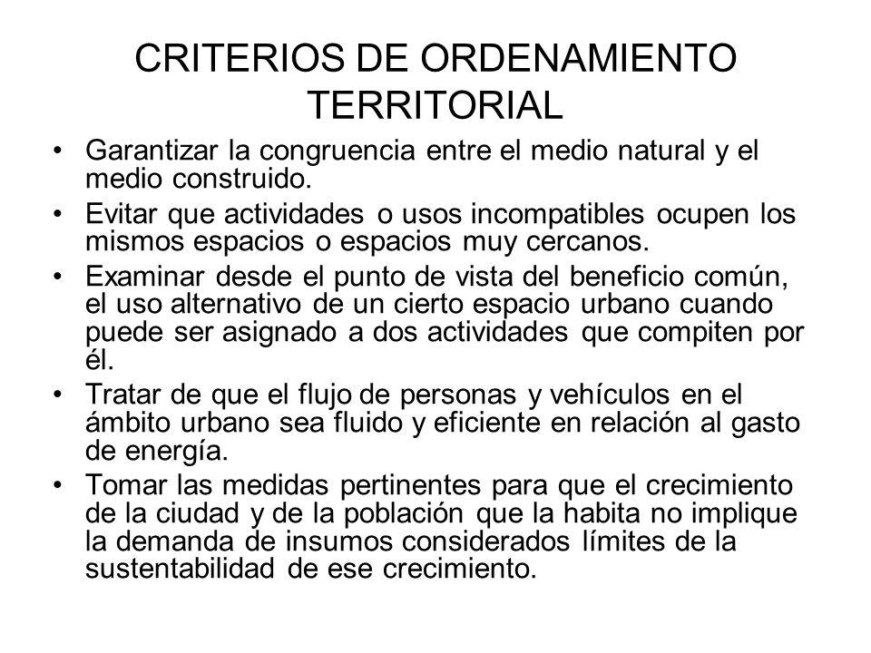 COMPARACIÓN DE ESCENARIOS CRITERIOS DE ORDENAMIENTO TERRITORIAL ESCENARIO TENDENCIAL ESCENARIO ALTERNATIVO PROVISIÓN DE INSUMOS Y PRESTACIÓN DE SERVICIOS AGUA (DOTACIÓN) == AGUA (DISTRIBUCIÓN) -+ ELECTRICIDAD +- DRENAJE +- VIALIDADES -+ EQUIPAMIENTO -+ COSTO DEL DESPLAZAMIENTO DE LA GENTE -+ SEGURIDAD PÚBLICA -+