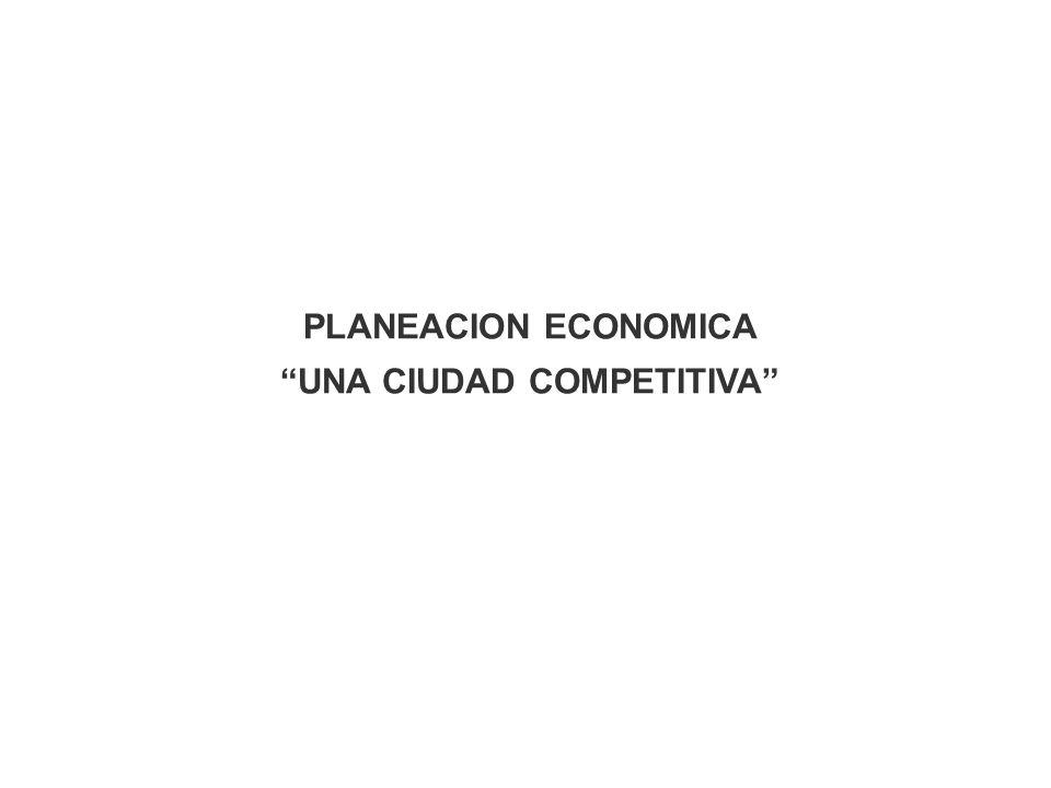 PLANEACION ECONOMICA UNA CIUDAD COMPETITIVA