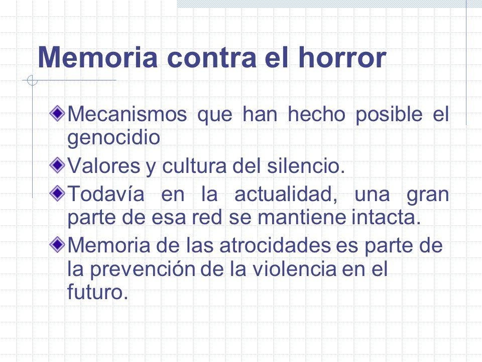 El sentido de la memoria: víctimas y sobrevivientes conocimiento de la verdad.