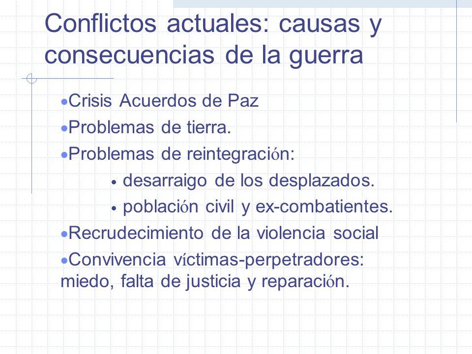 Reconstruir el tejido social Efecto estructural: relaciones de poder y cultura maya. Destrucci ó n de casas, cosechas, comunidades. Crisis comunitaria