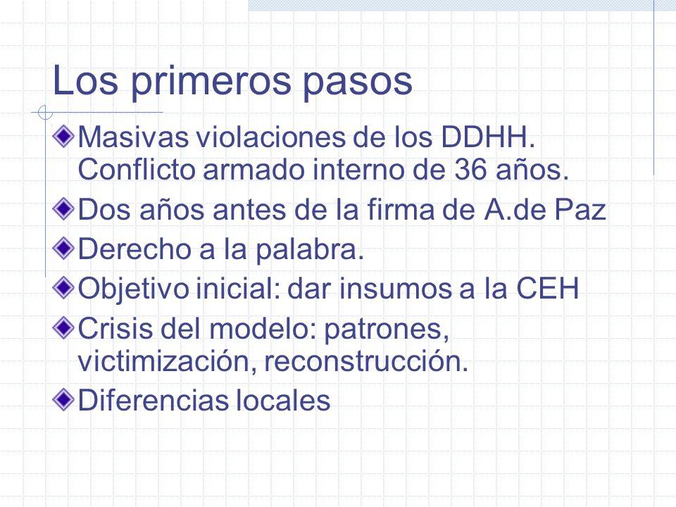 Algunas características diferenciales: Verdad y apoyo a las víctimas Proceso de movilización social Experiencia de víctimas y sobrevivientes Auspiciad