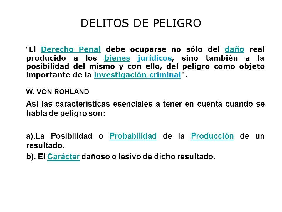 DELITOS DE PELIGRO
