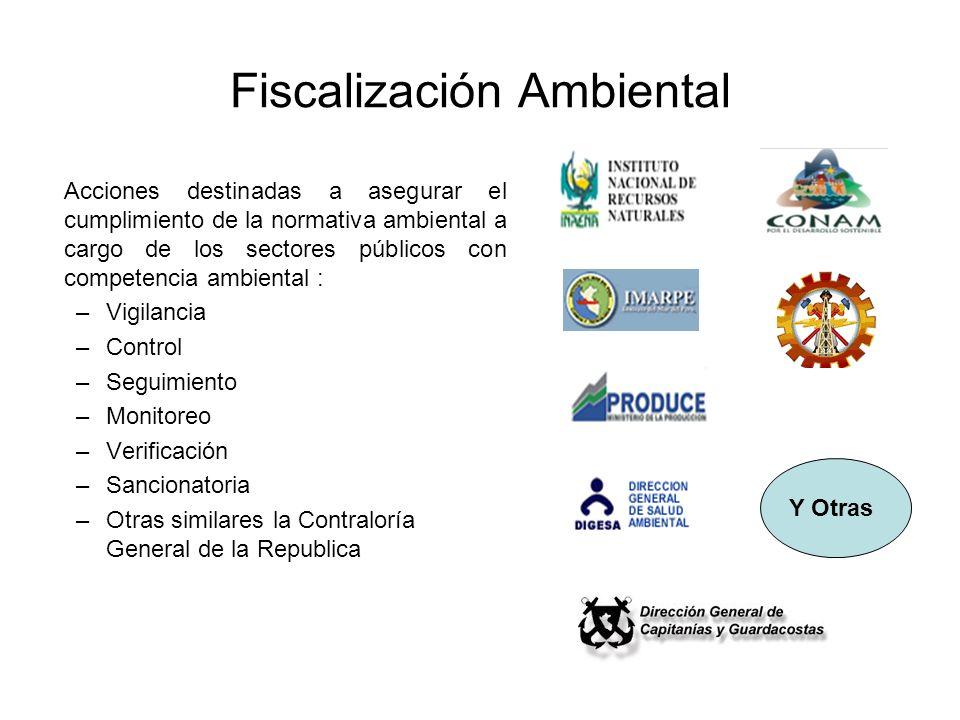Fiscalización Ambiental Acciones destinadas a asegurar el cumplimiento de la normativa ambiental a cargo de los sectores públicos con competencia ambi