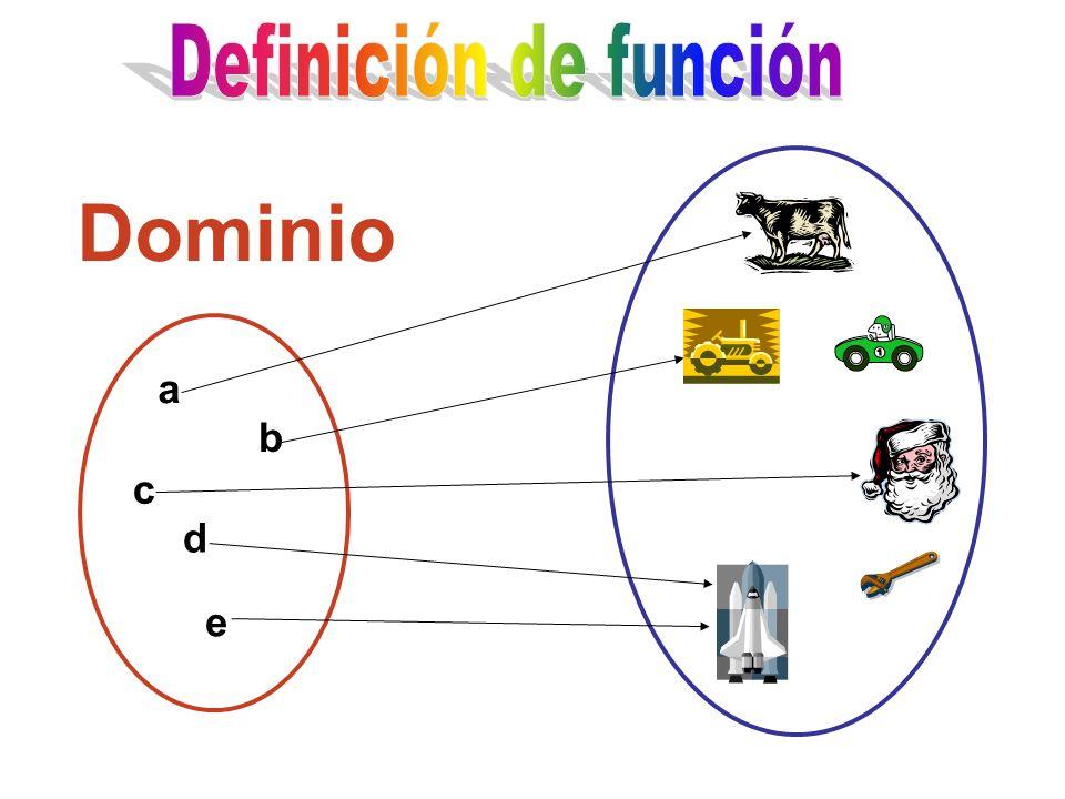 a b c d e Dominio