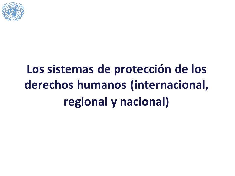 Los sistemas de protección de los derechos humanos (internacional, regional y nacional)