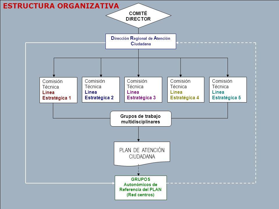 23 COMITÉ DIRECTOR Comisión Técnica Línea Estratégica 1 Grupos de trabajo multidisciplinares D irección R egional de A tención C iudadana GRUPOS Auton