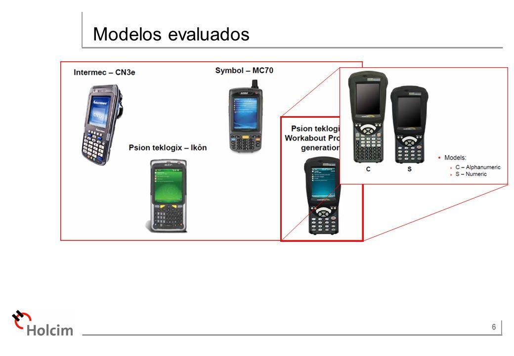 6 Modelos evaluados