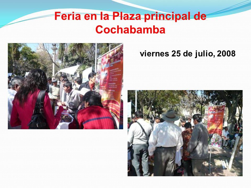 Feria en la Plaza principal de Cochabamba viernes 25 de julio, 2008