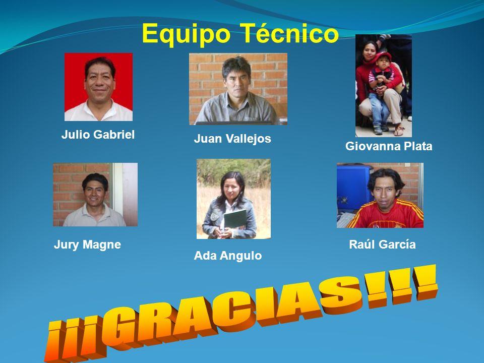 Equipo Técnico Julio Gabriel Giovanna Plata Juan Vallejos Jury Magne Ada Angulo Raúl García