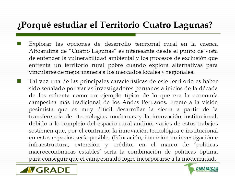 ¿Porqué estudiar el Territorio Cuatro Lagunas? Explorar las opciones de desarrollo territorial rural en la cuenca Altoandina de Cuatro Lagunas es inte