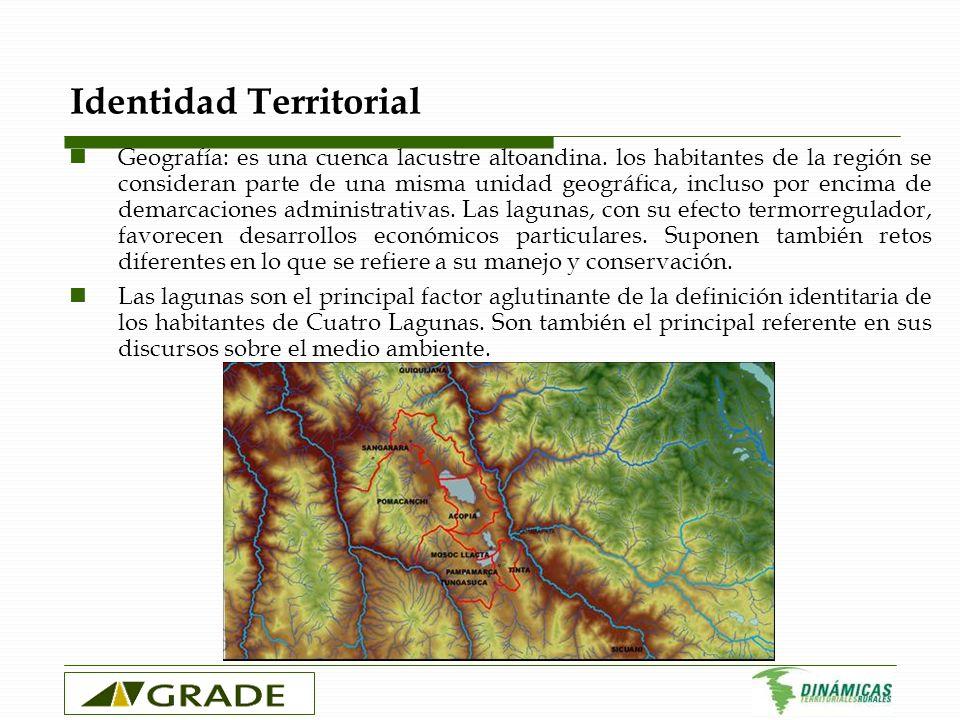 Identidad Territorial Geografía: es una cuenca lacustre altoandina. los habitantes de la región se consideran parte de una misma unidad geográfica, in