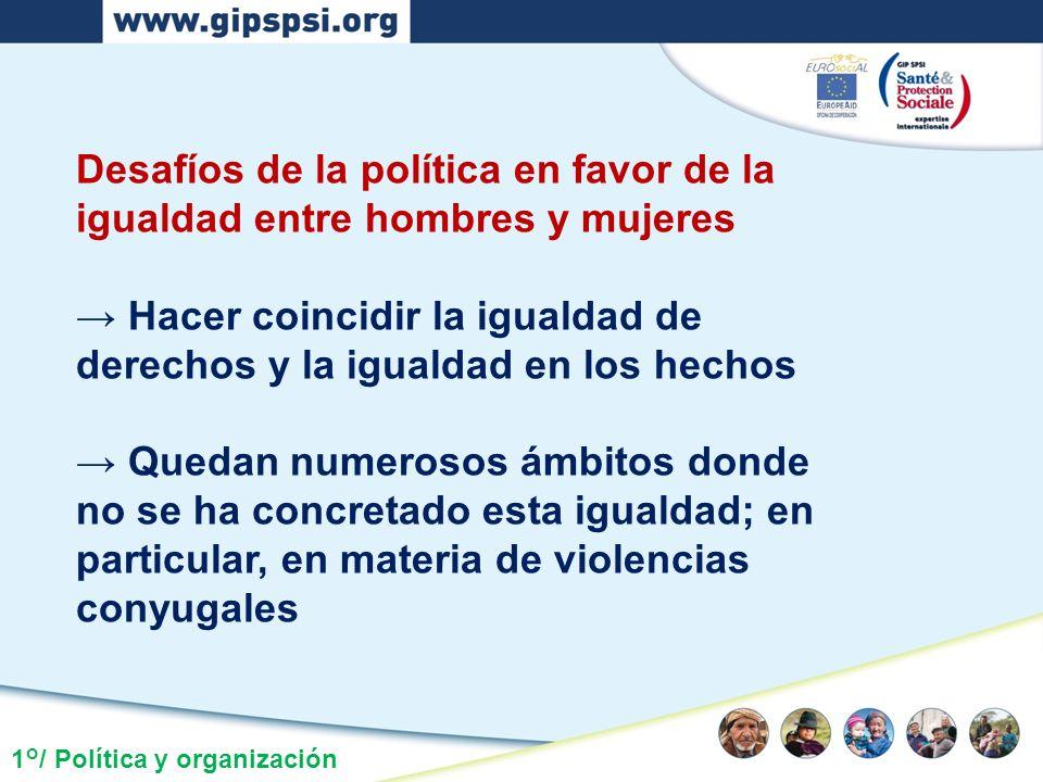 Desafíos de la política en favor de la igualdad entre hombres y mujeres Hacer coincidir la igualdad de derechos y la igualdad en los hechos Quedan num